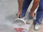 Póstop com electrobomba eliminador de pó para rebarbadora