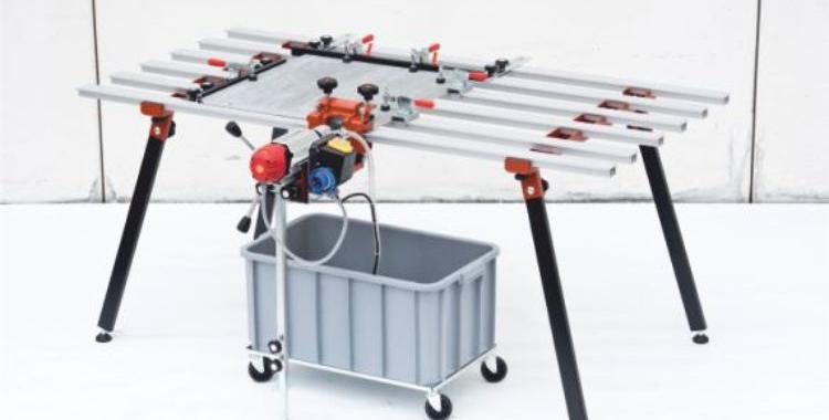 Foracoste furador eléctrico com água para furar topos para fachadas ventiladas